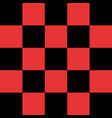 black and red checkered background vector image