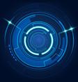 futuristic circle vector image