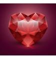 Heart shaped gem stone vector image