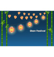 Japanese summer Bon Festival background vector image
