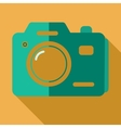 Modern flat design concept icon photo camera vector image