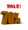 sale percent vector image