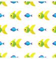 seamless fish pattern ocean or aquarium vector image