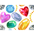 Seamless texture of colored gems vector image
