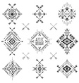 Tribal geometric symbols vector image