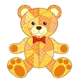 Application bear isolated vector image vector image