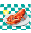 Lobster dinner vector image vector image