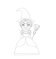 beautiful little witch vector image