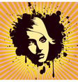 woman's portrait grunge style vector image vector image