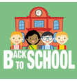 school and children vector image vector image