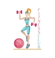 Fitness background women vector image