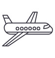 airplaneplane line icon sign vector image