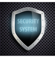 metal shield with the inscription security system vector image