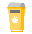 rubbish bin for food waste vector image