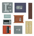 safes for saving money and documents set property vector image