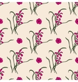 Seamless pattern with chinese orchid vector image