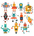 set cute robots vector image