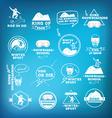 Snowboarding winter sport icon set vector image