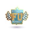 Fitness University vector image