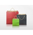 shopping bags set vector image vector image