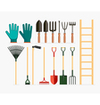 Set of garden tools and gardening items vector image vector image