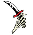 hand bone hold a dagger vector image