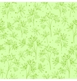Beautiful line flowers on green vector image vector image