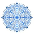 One ornate snowflake isolated vector image