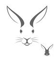 Rabbit head Logo vector image