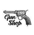 Hand drawn retro Firearm Antique arms Gun vector image