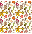 Seamless autumn leaves texture pattern background vector image vector image