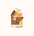 logo design template for pet shops vector image vector image