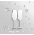 Abstract Background with Two Glasses of Champagne vector image