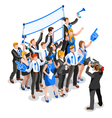 Election News Infographic Party Rally Crowd vector image