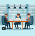 group of business characters people in office vector image