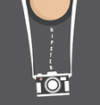 Hipster Person With Retro Camera vector image
