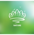 Logo with the image of trees and forests vector image