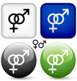 Male female buttons vector image