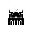 mosque facade - arabic temple church icon vector image