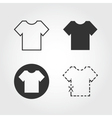 t shirt icons set flat design vector image