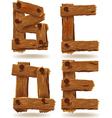 wooden B C D E vector image