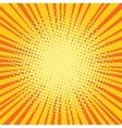 Yellow orange rays comic pop art retro background vector image