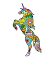 Unicorn colorful for children vector image