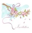 Sakura cherry invitation vector image vector image