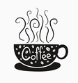 Hot coffee vector image vector image