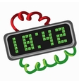 Electronic retro clock with led dial vector image