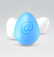 Twitter blue egg vector