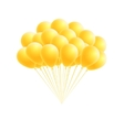 bunch birthday or party yellow balloons vector image