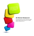 Colorful 3D rectangle background vector image