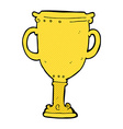 comic cartoon trophy vector image